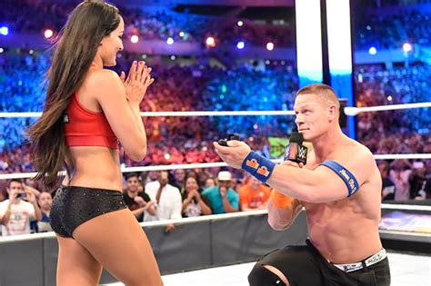 nikki bella engaged john cena and nikki bella get engaged after winning