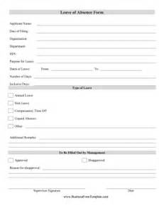 Business Form Templates by Leave Of Absence Form Template