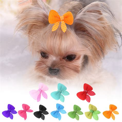 hair bows for yorkies 10pcs set pet cat hairpins pets dogs cats supplies bows hairpin pet