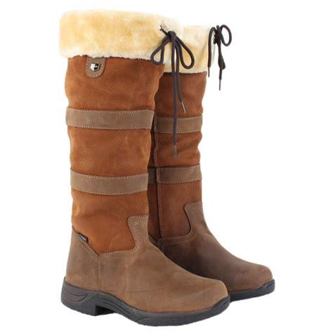 eskimo boots dublin eskimo fleece lined river boots brown