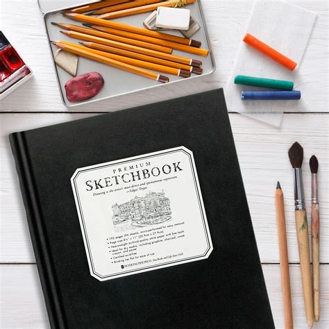 Large Premium Sketchbook premium black sketchbook large 8 1 2 x 11 micro