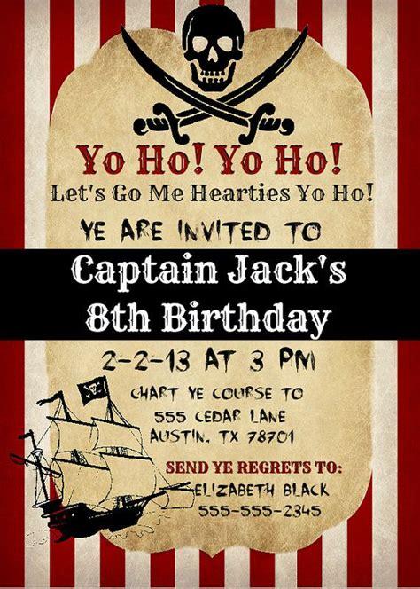 printable birthday invitations pirate printable vintage pirate invitation
