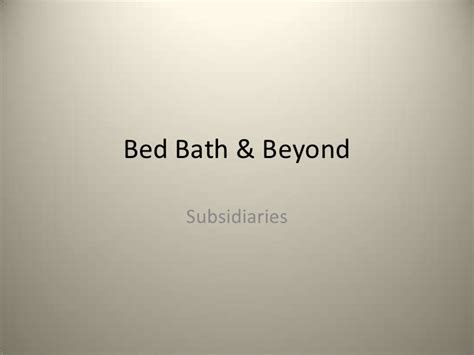bed bath and beyond competitors bed bath beyond
