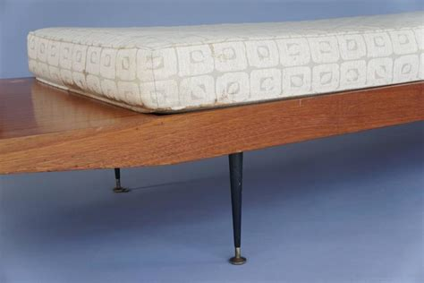 long bench cushion mid century long bench with cushion for sale at 1stdibs