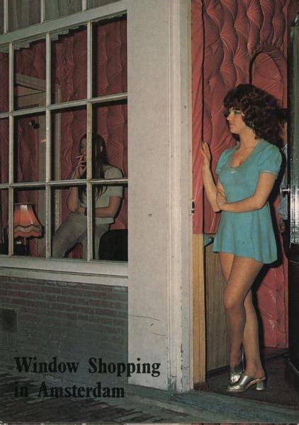 window shopping  amsterdam netherlands postcard