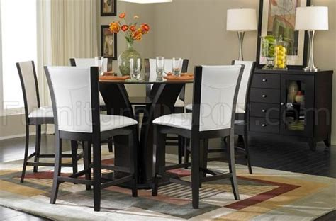 glass top counter height dining table espresso finish glass top modern counter height dining table