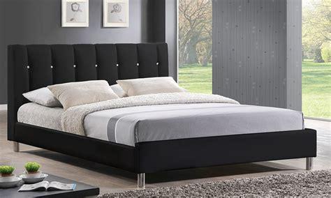 Upholstered Bed Deals Vino Bed Upholstered Headboard Groupon Goods