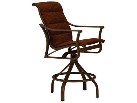metal padded swivel bar stools tropitone corsica padded sling aluminum arm swivel bar