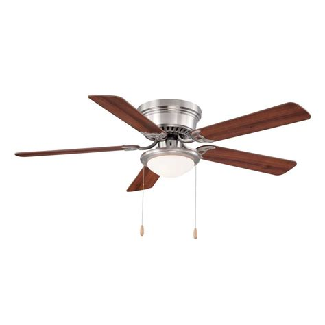 petersford 52 in led brushed nickel ceiling fan null hugger 52 in led indoor brushed nickel ceiling fan