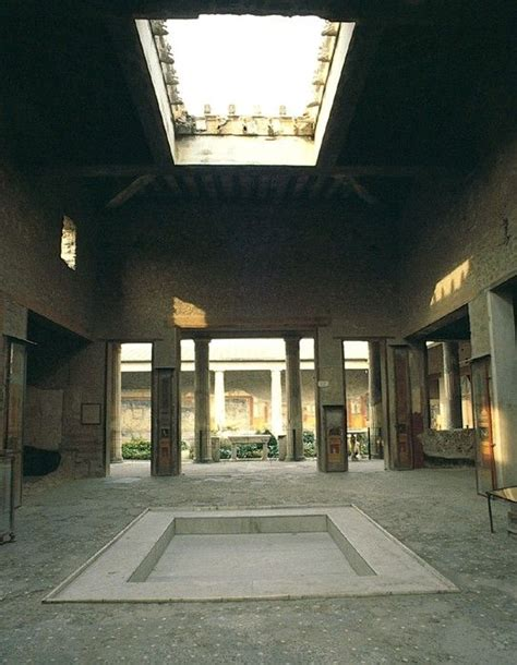 house of the vettii atrium of the house of the vettii pompeii