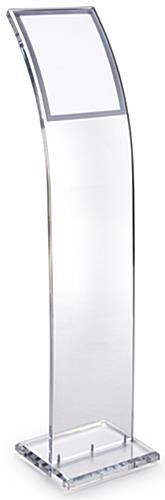 acrylic stand acrylic poster stand clear design w 8 1 2 x 11 magnetic