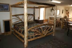 Wood Log Bed Frame Log Bed Plans Bed Plans Diy Blueprints