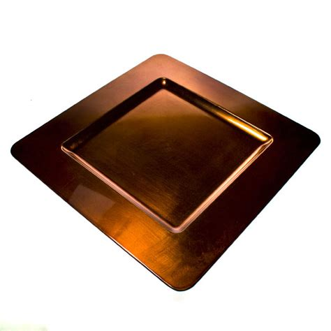 square charger plates standard copper square charger plate 33cm x 33cm