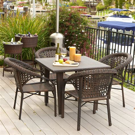 all weather wicker patio dining sets river all weather wicker patio dining set seats 4
