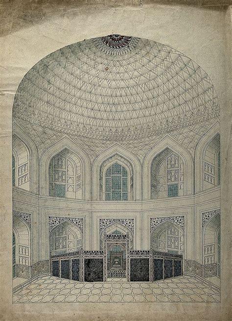 File Inside The Taj Mahal In Agra India Wellcome V0046065 Taj Mahal Interior Design