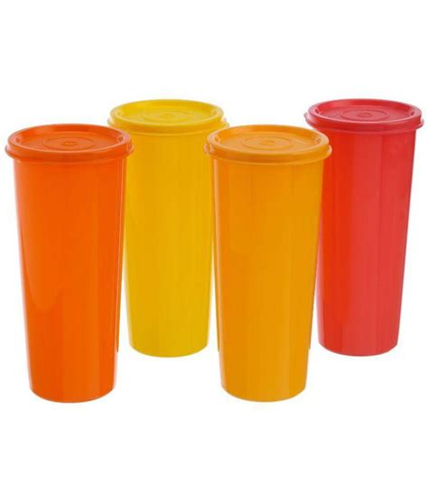 Disc 40 Tumbler 470 Ml Tupperware Termurah 4 Pcs tupperware 470ml jumbo tumbler glasses buy at best price in india snapdeal