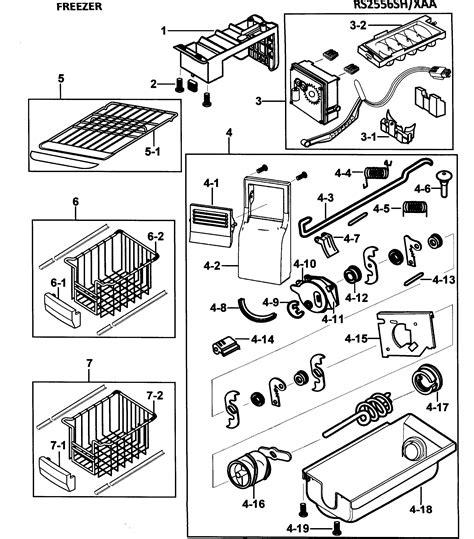 samsung refrigerator maker parts diagram samsung refrigerator parts model rs2556shxaa0000 sears