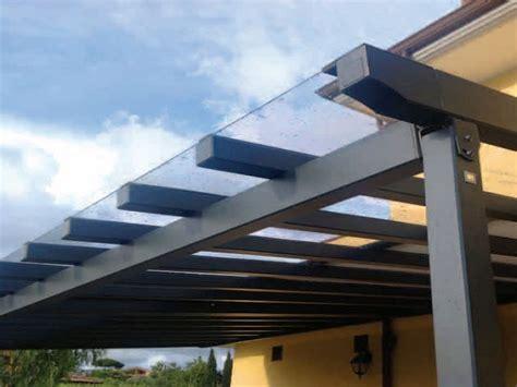 tettoia plexiglass tettoie in alluminio e policarbonato compatto trasparente