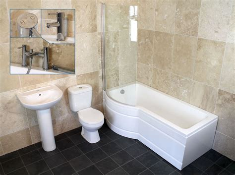 shower bath suites complete 1500mm or 1700mm p shape shower bath toilet sink bathroom suite taps ebay