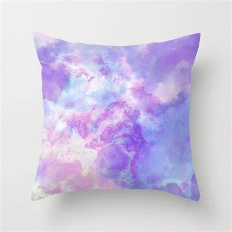 Pastel Pillows by Pastel Purple Pink And Blue Watercolor Pillow