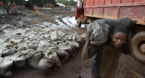 democratic republic of congo child labor mining major int l electronics companies use cobalt extracted by