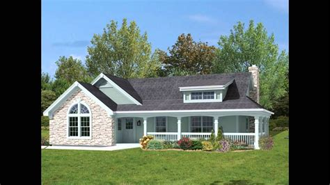one house plans with porch ranch style house plans with basement and wrap around porch
