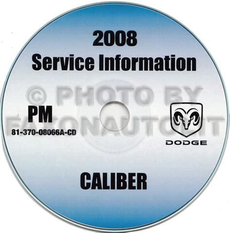 free auto repair manuals 2008 dodge caliber engine control 2008 dodge caliber repair shop manual cd rom