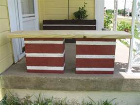 cinder block bench for your home outdoor s beauty