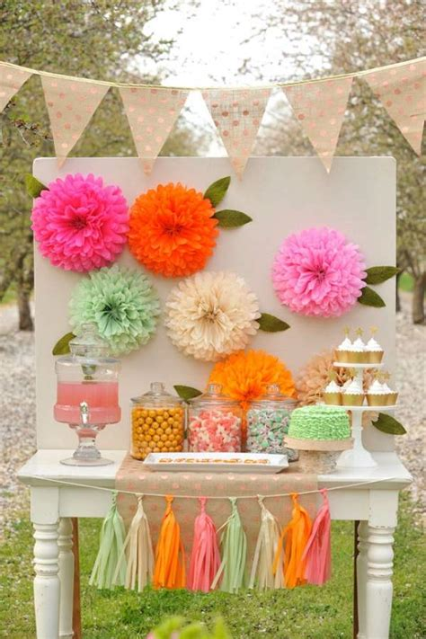 How To Make Tissue Paper Decorations For Baby Shower - 10 paper flower decoration styles that will make any place