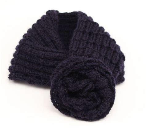 bufanda cuello en crochet o ganchillo de lana o estambre cuello de lana para ni 241 a con flor de ganchillo costurea