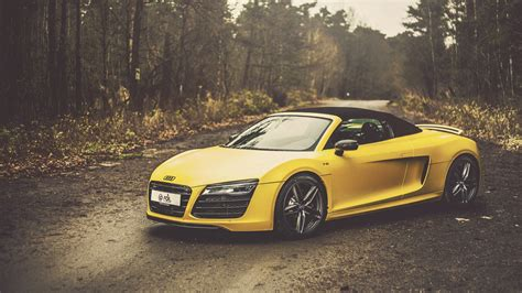 audi r8 wallpaper 1920x1080 yellow audi r8 v10 spyder wallpapers 1920x1080 853664