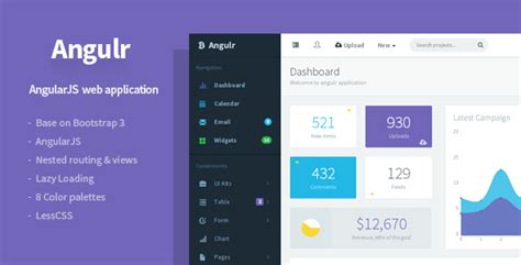 20 Angularjs Admin Templates For Download Templateflip Angular Bootstrap Template