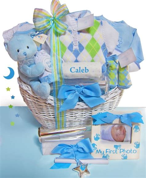 luxury baby shower gift for boy or baby beginnings luxury personalized baby gift basket