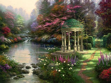 garden  prayer thomas kinkade studios