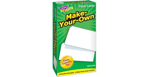 make your own flash cards make your own skill drill flash cards t 53010 trend