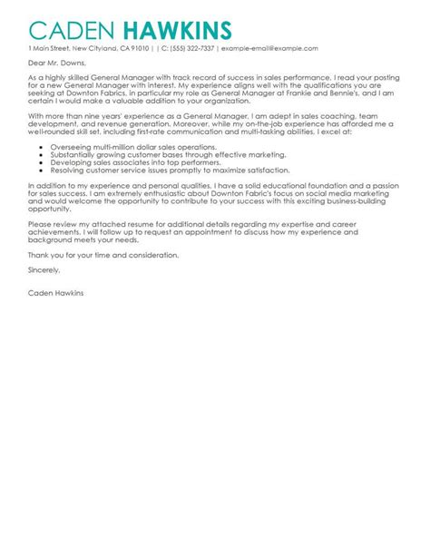 Apology Letter From Hotel General Manager hotel general manager application cover letter exles