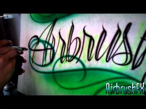 how to remove airbrush tattoo how to airbrush style script lettering with scrolls