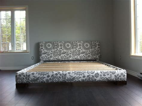 upholstered bed frames and headboards ana white upholstered bed frame king size diy projects