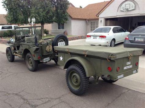 Ww2 Jeep Trailer For Sale 1942 Gpw And 1945 Trailer Glendale Az Sold Ewillys