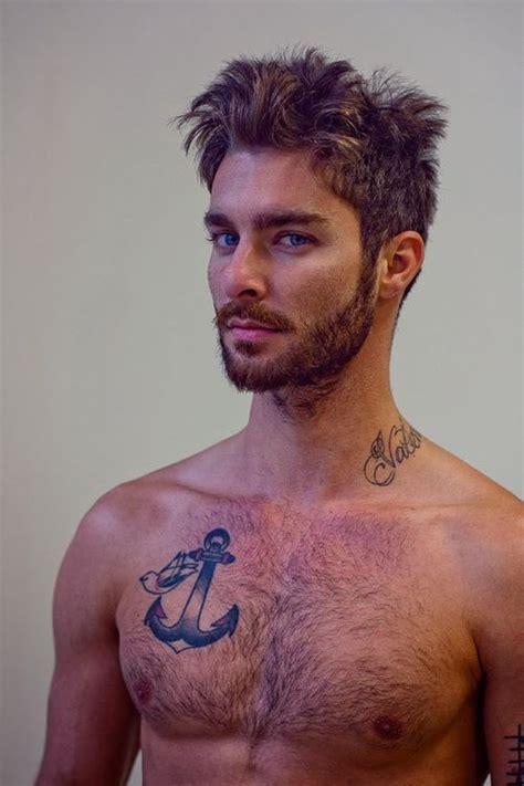 tattoo under body hair anchor tattoo mens medium to long pinterest hair