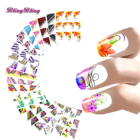 Manicure Stickers by 22 Style Nail Sticker Manicure Water Decals Half