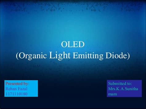 organic light emitting diode organic light emitting diode
