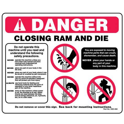 Osha Bench Grinder Press Brake Danger Visual Safety Signs Ksc060 Ksc060s