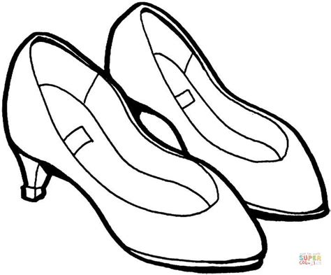 printable coloring pages shoes summer shoes coloring online