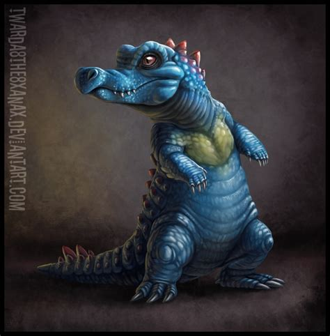 realistic totodile by twarda8 on deviantart