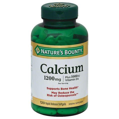 supplements q card nature s bounty calcium 1200 mg plus vitamin d3 1000 iu