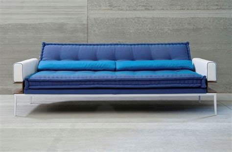 modern blue futon sofa bed design with white arm nytexas