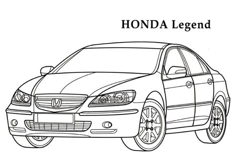 coloring pages honda cars honda legend sport cars coloring pages kids coloring
