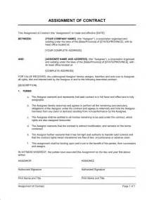 assignment of benefits form template assignment of contract template sle form biztree