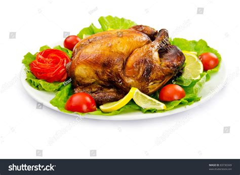 Turkey On The Table by Roasted Turkey On The Festive Table Stock Photo 83730349
